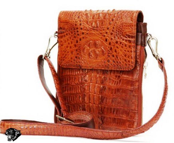 8324d2c8e978 Сумка мужская натуральная кожа крокодила (рыжая)В73 - Мужские сумки ...