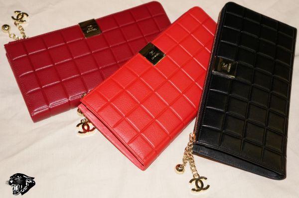 Клатч красный через плечо Chanel красная